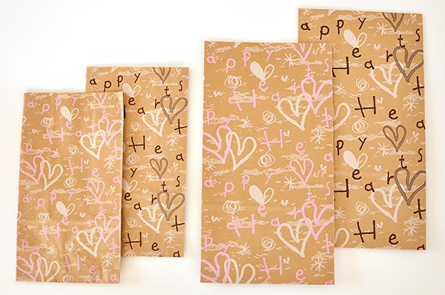 バレンタインクラフト紙袋