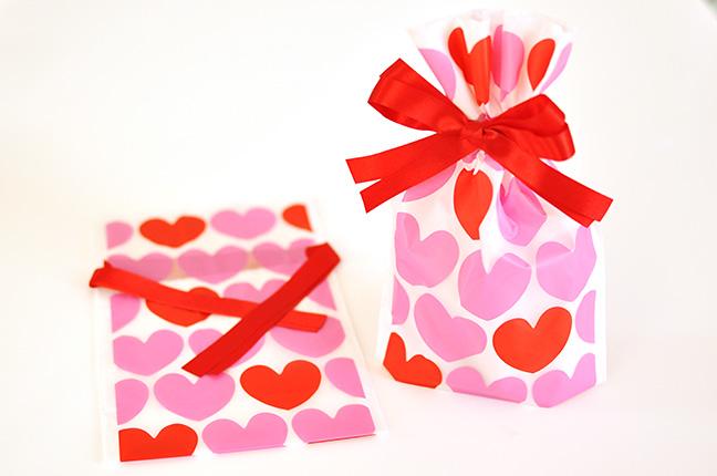 バレンタイン巾着袋