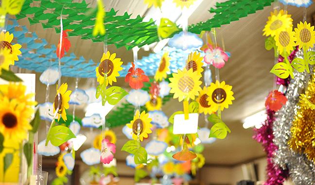 夏の天井装飾