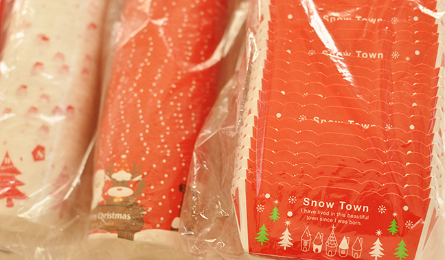 クリスマス柄ベーキングカップ