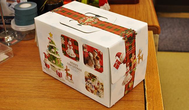 クリスマスケーキ用箱 横長タイプ