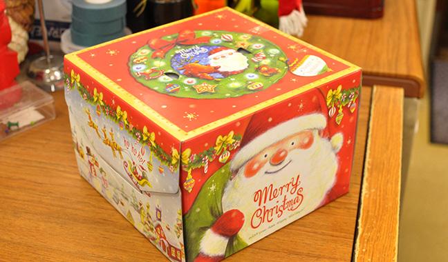 クリスマスケーキ用箱 5号・6号サンタ