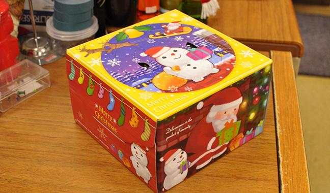クリスマスケーキ用箱 5号スノーマン