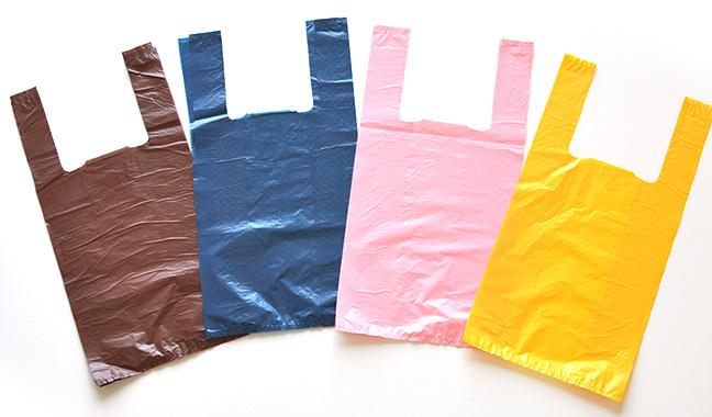 無地カラーレジ袋