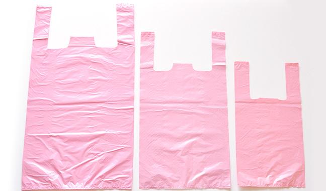 無地カラーレジ袋 ピンク