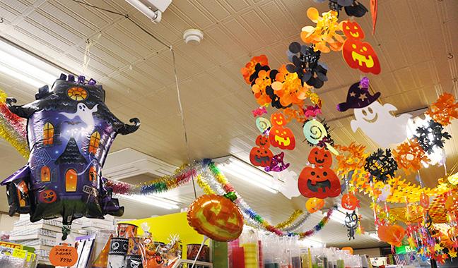 ハロウィン 天井装飾