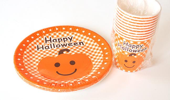ハロウィン紙コップ、紙皿