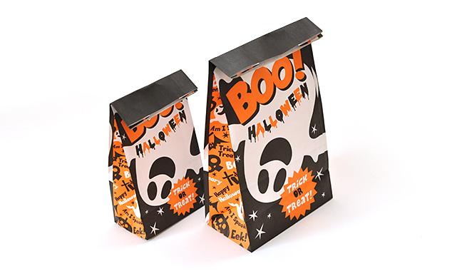ハロウィン(黒/黒) 紙袋