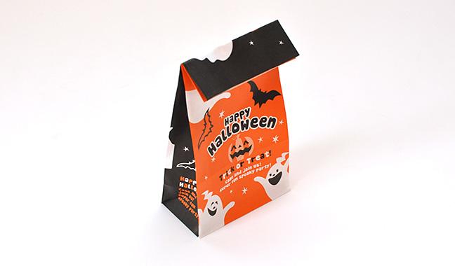 ハロウィン(オレンジ/黒) 紙袋