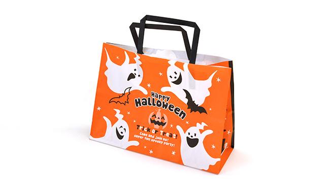 ハロウィン(オレンジ/黒) 手提げ紙袋