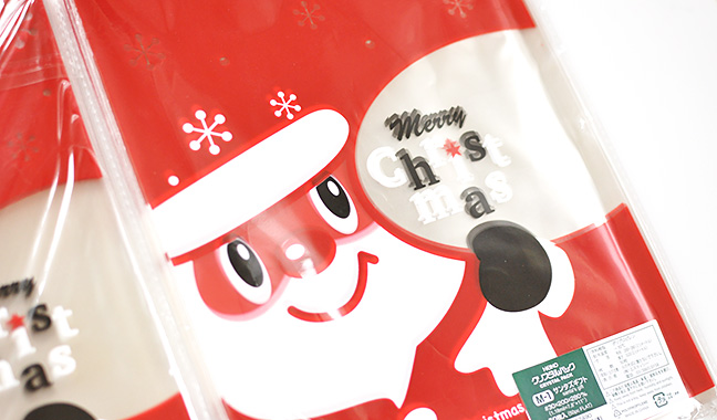 サンタクロース柄クリスタルパック