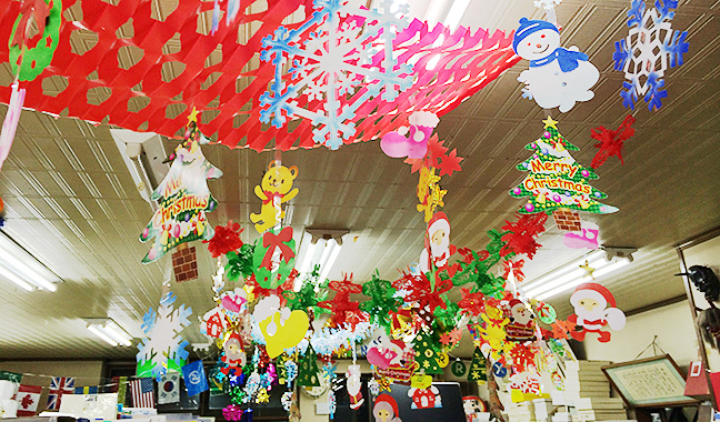 クリスマス天井装飾