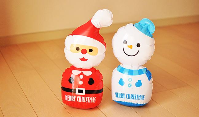 クリスマスビニールディスプレイ