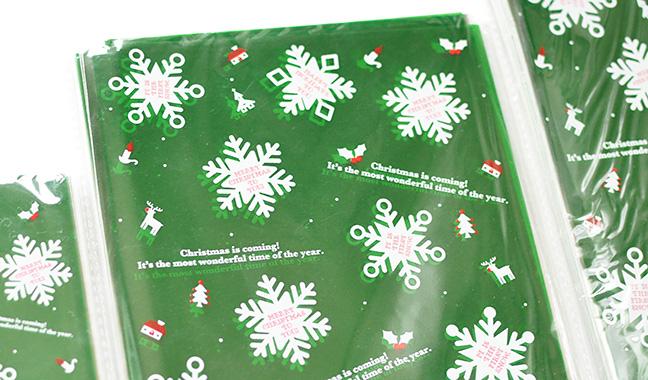 雪の結晶柄クリスタルパック