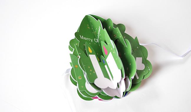 クリスマスポップアップカード