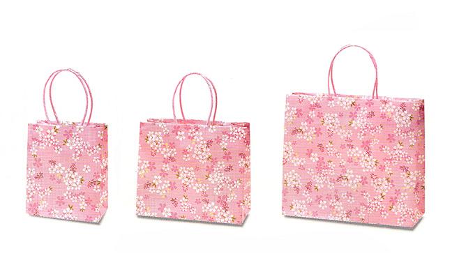 桜爛漫柄の紙袋