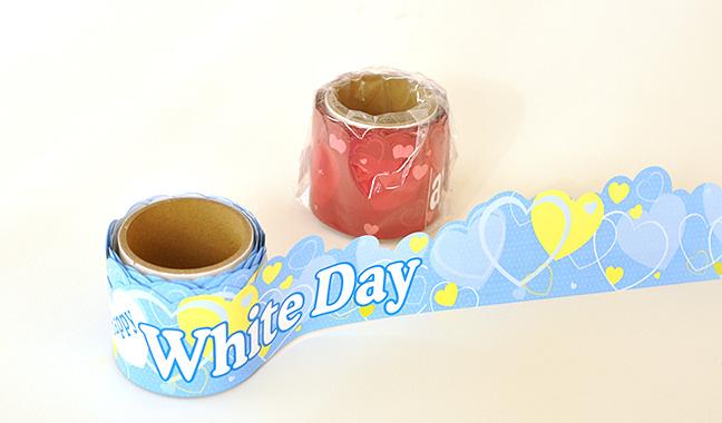 バレンタインデー、ホワイトデー棚帯ポップ