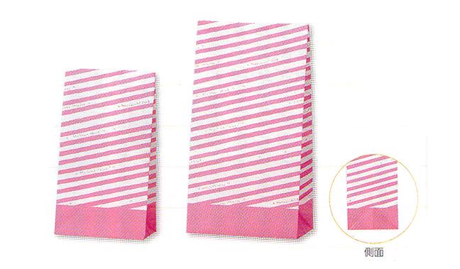 ストライプ柄紙袋