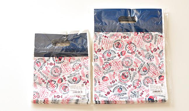 アメリカンポップ柄のカラーポリ袋