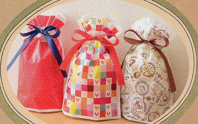 バレンタインデー巾着タイプのポリ袋