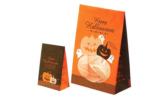 ハロウィン 窓付き紙袋