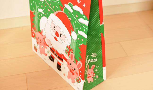 クリスマス柄手提げ袋