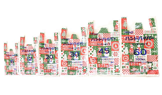 クリスマスパーティー柄レジ袋