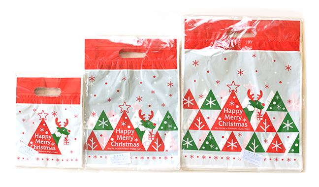 クリスマス手抜きカラーポリ袋