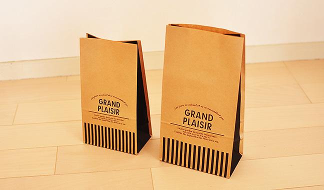 カフェ風クラフト紙袋