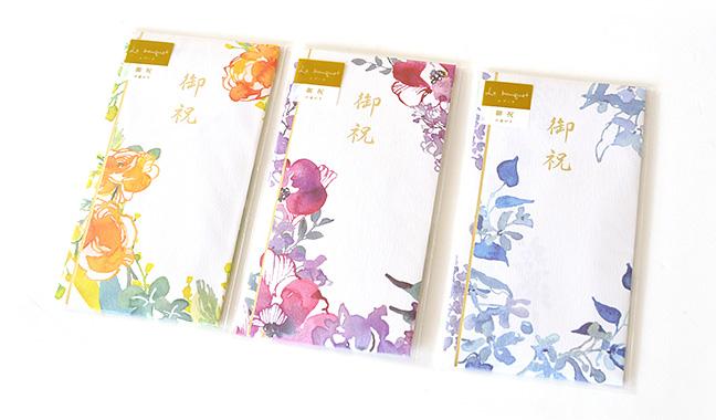 満開の花束を描いたご祝儀袋