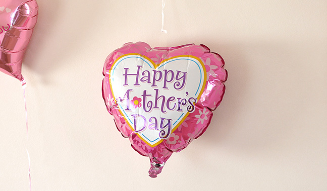 ハート型Happy Mother's Dayバルーン