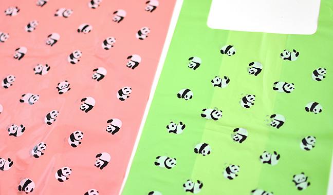 パンダ柄レジ袋