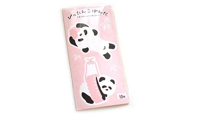 パンダ柄ギフトシール