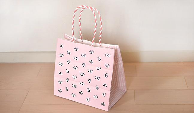 パンダ柄手提げ袋