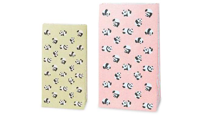パンダ柄紙袋