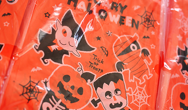 ハロウィンモンスターのレジ袋 ハンドハイパー