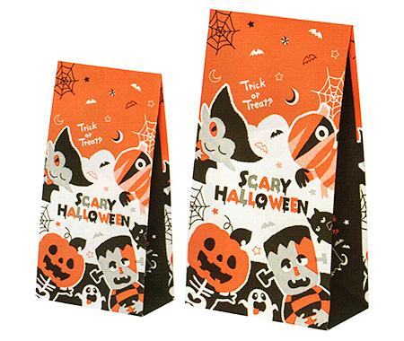 ハロウィンモンスター柄の紙袋