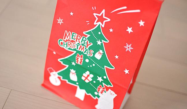 クリスマスツリー柄紙袋