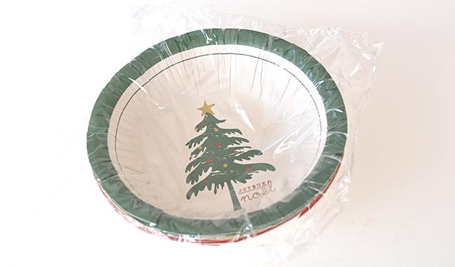 クリスマス柄ペーパーボウル