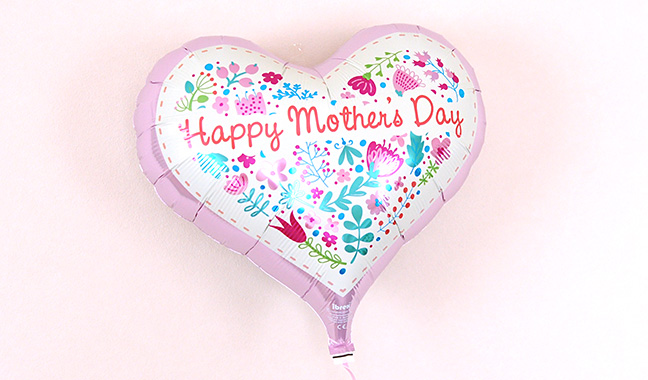 Happy Mother's Dayハート型バルーン