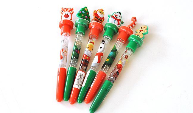 クリスマス3WAYペン(ペン・スタンプ・シャボン玉)