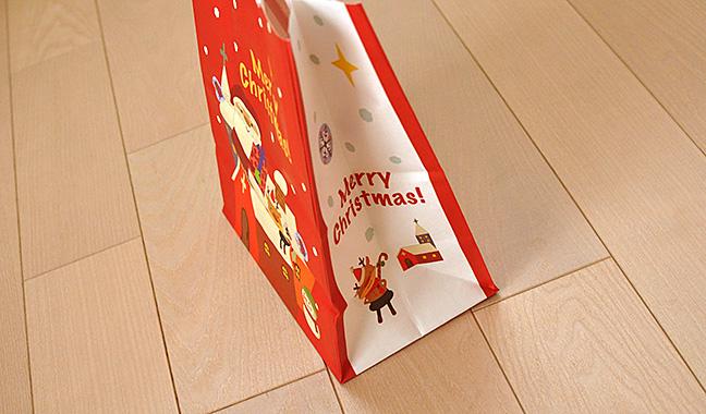 クリスマス柄手提げ紙袋