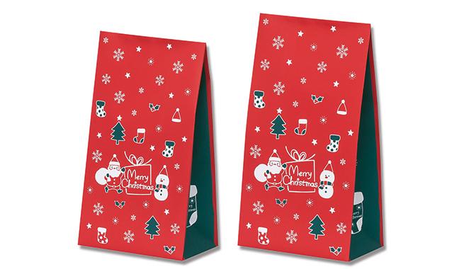 サンタ&スノーマン柄紙袋