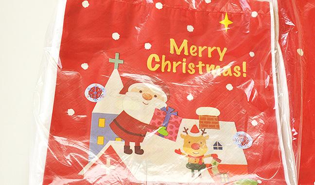 クリスマス柄手抜きポリ袋