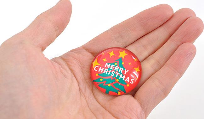 クリスマスガラスマグネット